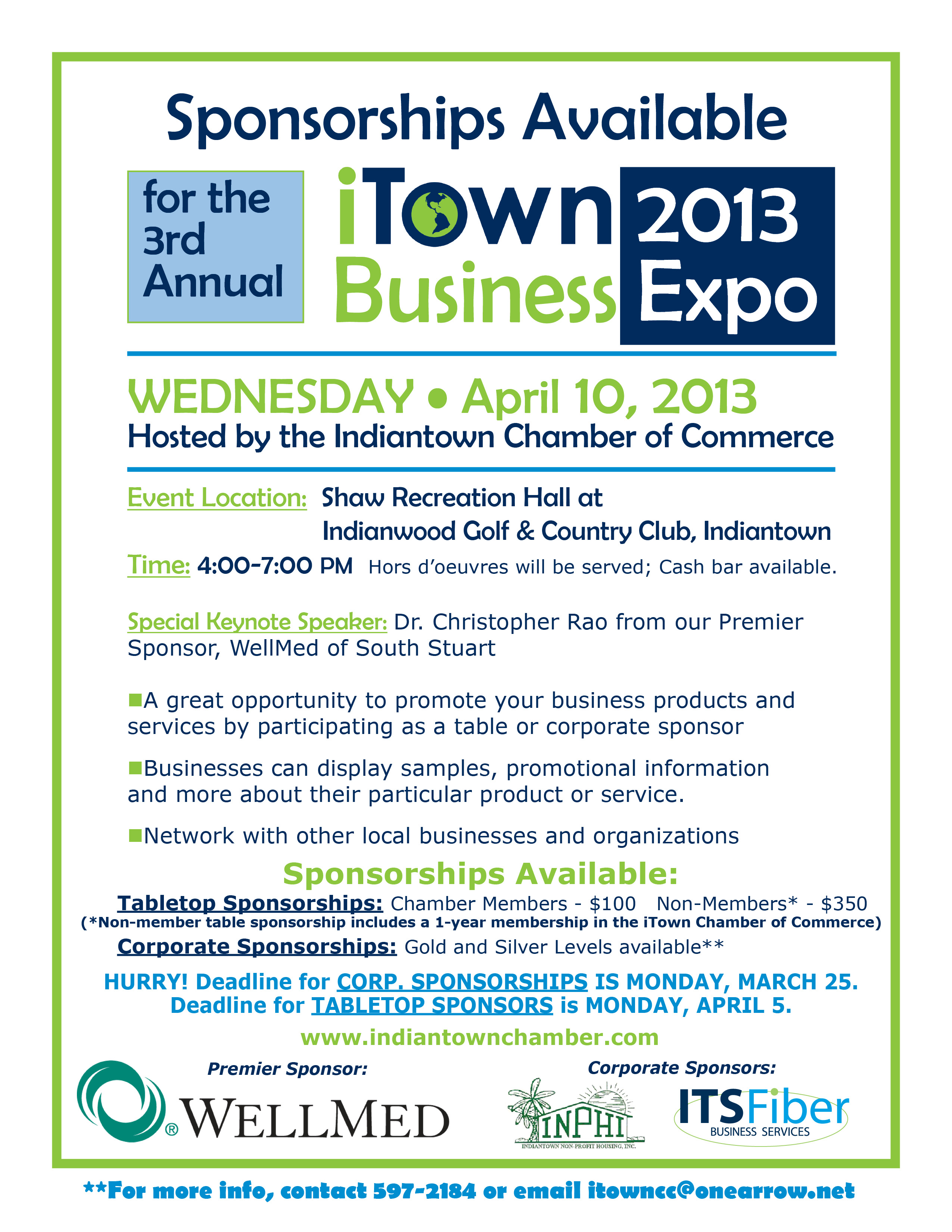 Indiantown chamber of commerce 3rd annual business expo for Sponsorship brochure template