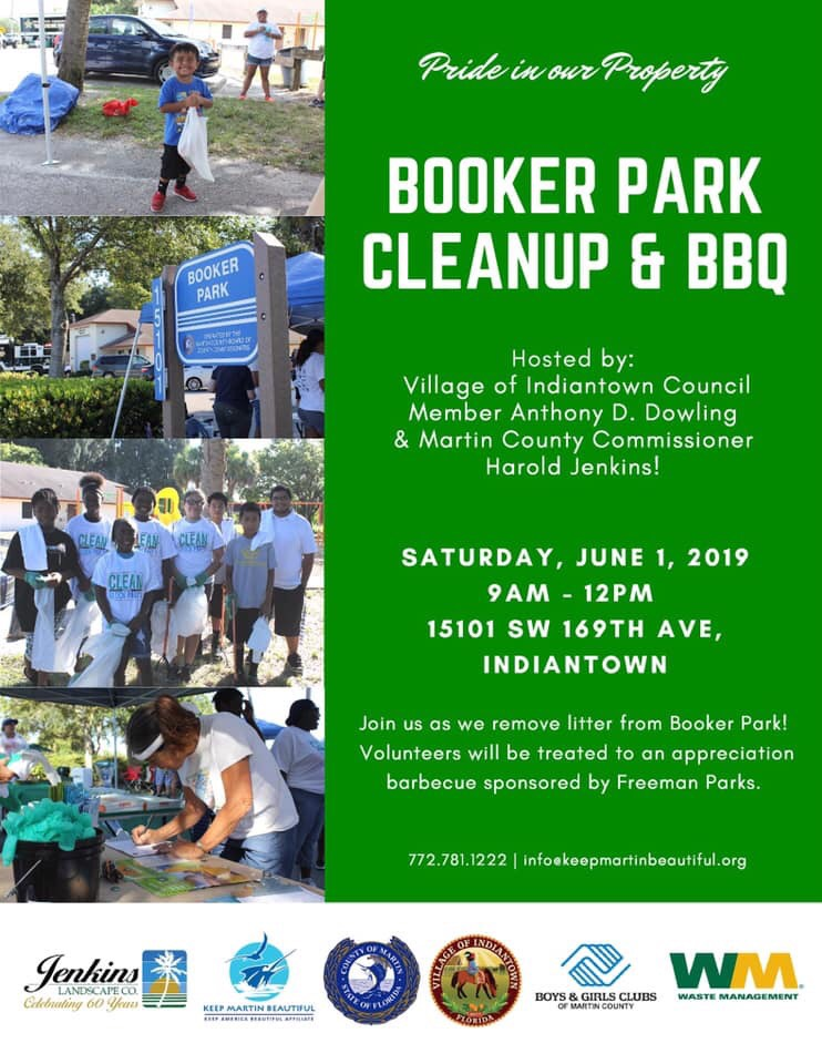 Indiantown Chamber of Commerce - Booker Park Cleanup & BBQ