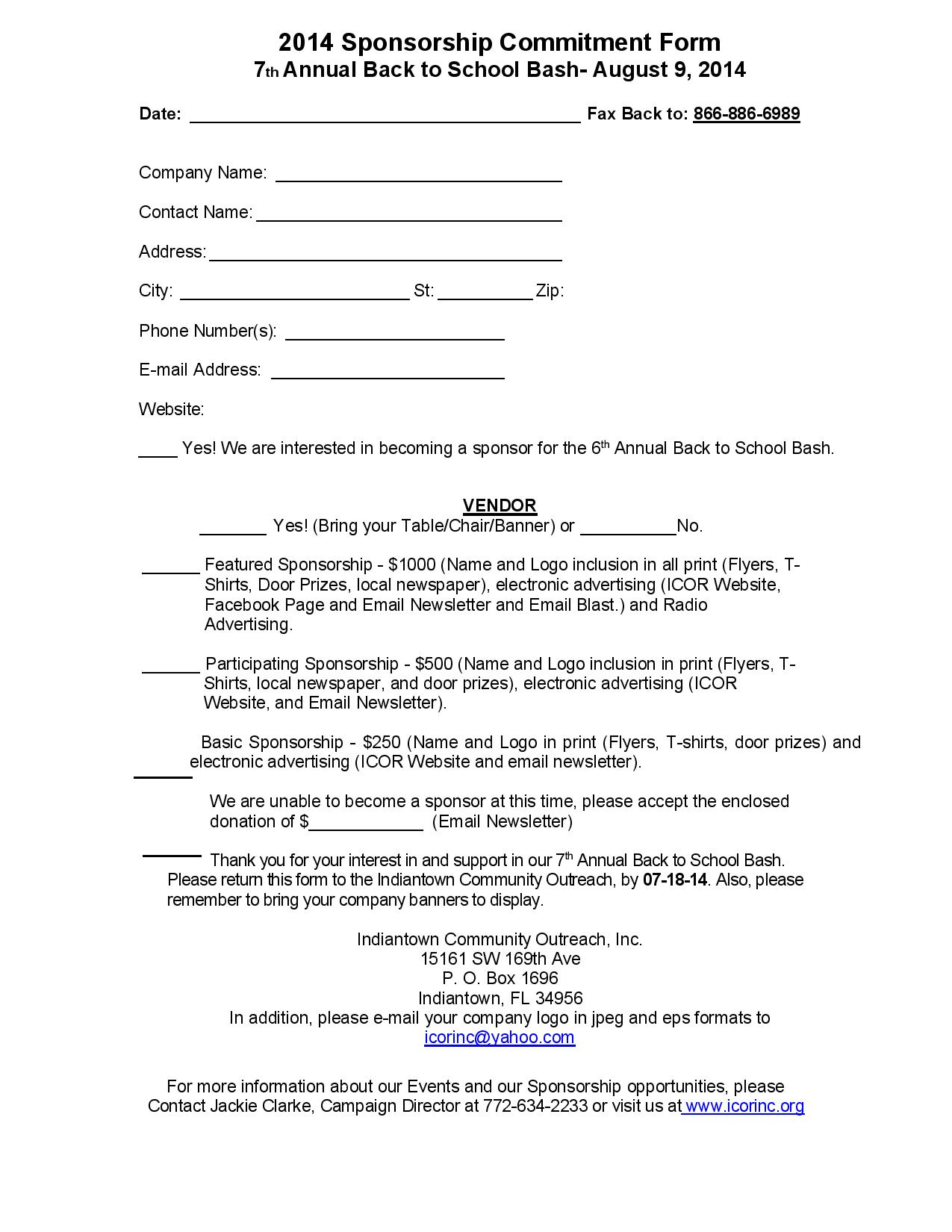 2014 back to school events 100 images back 2 school for Fishing sponsorship application
