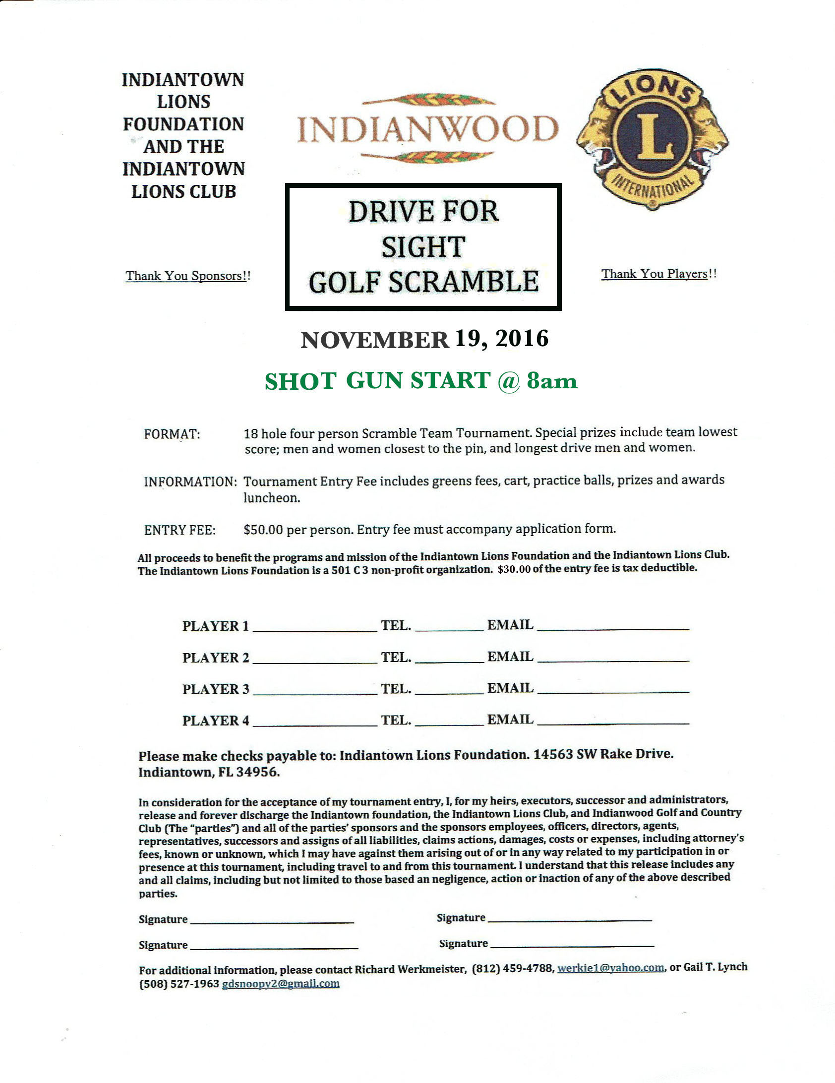 Indiantown Chamber of Commerce - Drive for Sight Golf Scramble