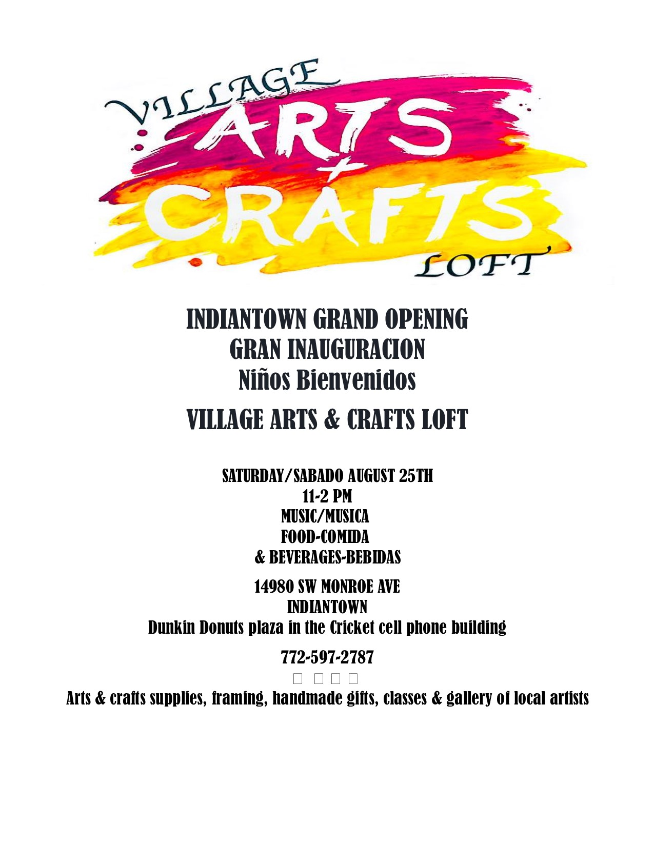 Indiantown Chamber of Commerce - 2018 Village Arts & Crafts Loft ...